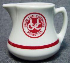 United Coal Co Hotel Restaurant Club Logo Advertising China Creamer Grundy VA picclick.com