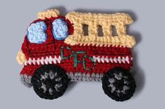 Fire Truck Applique | Fire Truck Applique Pattern