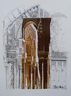 "Saatchi Online Artist: nel ten wolde; Colored Pencils, 2011, Drawing ""Alhambra3"""