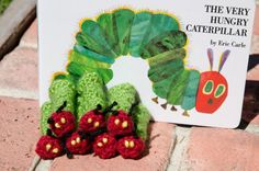 Hungry Caterpillar Inspired Crochet Finger Puppet - Great party favor, baby shower gift, or teaching tool on Etsy, $4.47 AUD