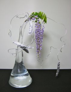Free Style Material:Wisteria,colored sword bean Glass container