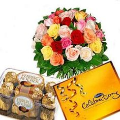 Mix Roses and Chocolates Combo