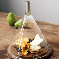 Cheese under glass. So museum. So chic.