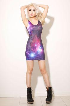 purple galaxy dress.
