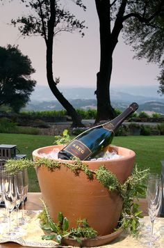 Great centerpiece idea for outdoor party or wedding...
