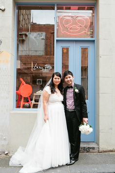 Whimsical Melbourne Wedding - Hannah in the Karen Willis Holmes - Madelyn gown