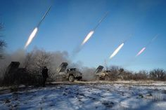 This is what a ceasefire looks like: Separatists launch Grad missiles in Ukraine's Horlivka (Andrey Borodulin—@AFP)