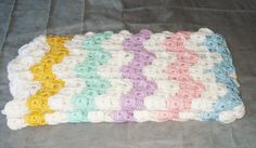 Colorful Striped Crochet Baby Blanket by CrochetedFashions on Etsy, $50.00