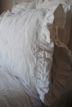 Ruffled Edge PillowcaseMaisie Linen Bedding by RubyandStellaHome 2fc5098d9