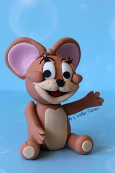 Tom and Jerry fondant cake topper - by Love Cake Create