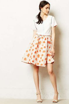 kind of diggin the skorts idea for this summer. Anthropologie - Octopoda Skort, elephant orange pattern