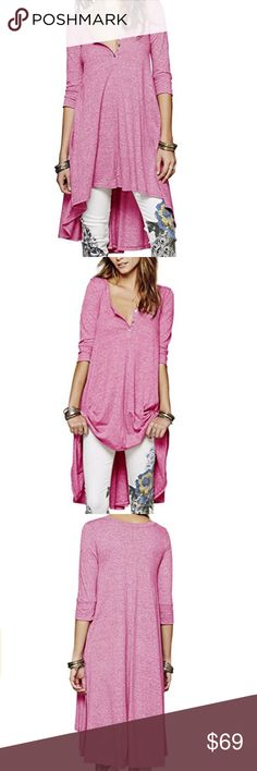 bϴhϴ hϵηlϵϒ hιgh lϴw tυηιͼ / drϵss BOUTIQUE * tunic / tee / henley / sweater / dress * heathered pink * small - medium - large - x-large - 2xl * high low hem * 3/4 Sleeves * oversized slouchy flowy fit * versatile - can be worn multiple ways * brand new in package * MORE COLORS AVAILABLE SEE INDIVIDUAL LISTINGS  * top * shirt * casual * work * lounge * date * boho * soft * winter * spring * trend * t-shirt * raglan  * comfortable * flattering * layering * regular  * plus size * free * jewel…