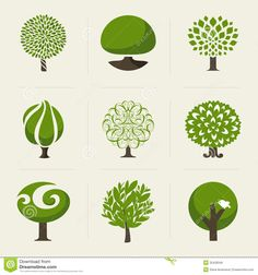 Tree. Collection Of Design Elements Royalty Free Stock Image ...