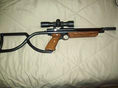 Backpacking/Survival Airgun Crosman 1377 .177 converted to .25 cal