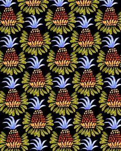 pineapple pattern by Bouffants & Broken Hearts