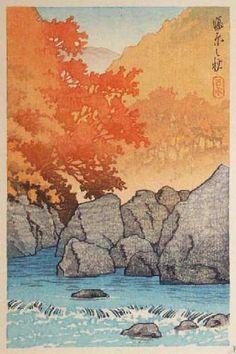 Autumn at Shiobara by Kawase Hasui