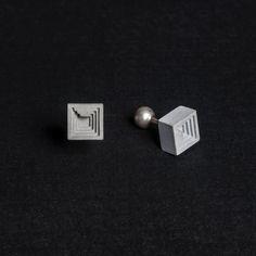 Micro Concrete Cufflinks #6