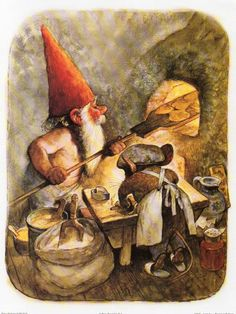 Art Print by Rien Poortvliet Gnome elf David