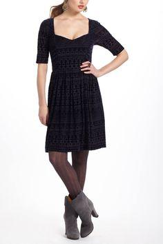 Geo-Burnout Velvet Dress - anthropologie.com (by Deletta)
