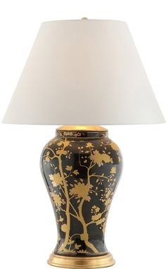 Ralph Lauren Black & Gold Table Lamp, sharing luxury designer home decor inspirations and ideas for beautiful living rooms, dinning rooms, bedrooms & bathrooms inc furniture, chandeliers, table lamps, mirrors, art, vases, pillows & accessories courtesy of InStyle Decor Beverly Hills enjoy & happy pinning