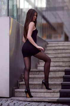 Black tights and stockings. Hot sexy girls in nylons. Hot amateur sexy hot woman for sex datings Pantyhose Fashion, Fashion Tights, Pantyhose Legs, Nylons, Beautiful Legs, Gorgeous Women, Tight Dresses, Sexy Dresses, Pernas Sexy