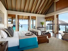 Shangri-La's Villingili Resort and Spa is a a premiere Maldives luxury resort. Located on the tiny island of Addu Atoll, the resort offers luxurious accommodation including private ocean retreats and tropical tree house villas. The unique all-villa r Maldives Luxury Resorts, Maldives Resort, Resort Spa, Hotels And Resorts, Male Maldives, Design Hotel, House Design, Life Design, Grand Luxe