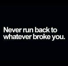 Never Run Back