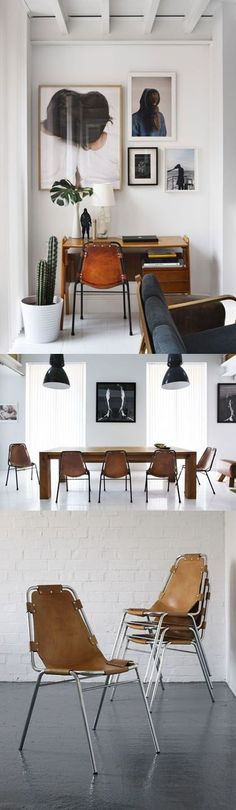 Charlotte Perriand chairs from modern findings.