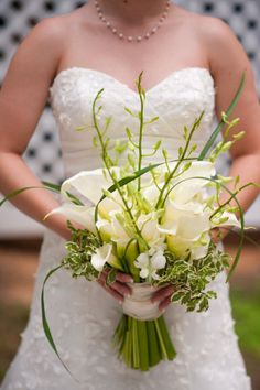 White Calla Lily bouquet, Stone Mountain wedding by Tessa Marie Photography