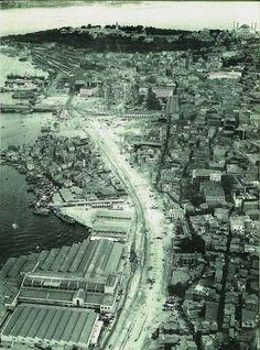 Eminönü yol genişletme çalışmaları, 1958