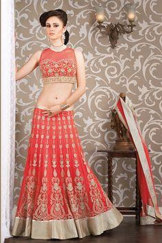 Show details for Orange net bridal wear lehenga choli Red Lehenga, Lehenga Choli, Bollywood Outfits, Indian Bridal Wear, Lehenga Designs, Indian Couture, India Fashion, Indian Sarees, Salwar Kameez