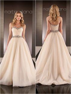 Detailed neck and waist line. Martina Liana Wedding Dresses | 2015 Wedding Dresses » KnotsVilla