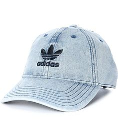 2422a234ce1 adidas Trefoil Denim Baseball Hat