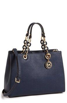 Michael Kors Cynthia Black Bag - Satchel $144