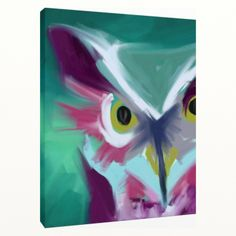 """""""Owl"""" canvas print from Melanie Hodge Art for $90 on Square Market"""