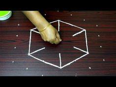 Beautiful rangoli designs with 7x4 dots || creative kolam designs || rangavalli rangoli - YouTube