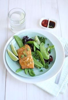 Baked Salmon with Miso + Honey
