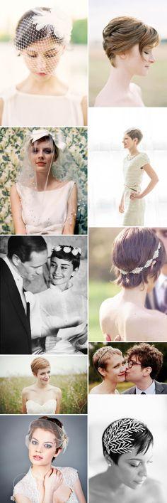 Brauthaarfirsuren für kurze Haare - wunderschön!