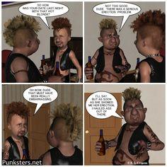 Punksters.net punk rock comic strip number 79. #comicstrip #humor