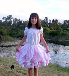 Sewing : Fancy Flounce Skirt pattern&tute 6m-12ys