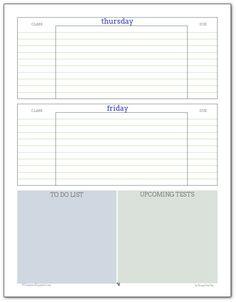 student planner printables organize pinterest student planner