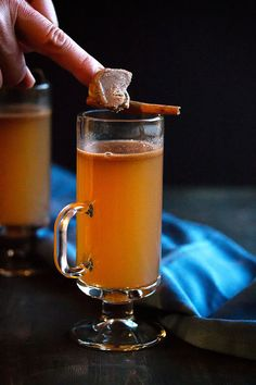 Cooks with Cocktails | Hot Buttered Rum with Apple Cider | http://cookswithcocktails.com
