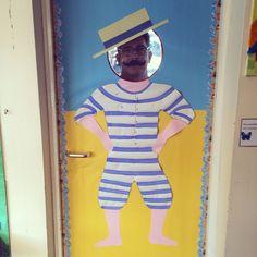 Under the sea , beach , seaside school door display