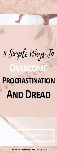 4 simple ways to overcome procrastination