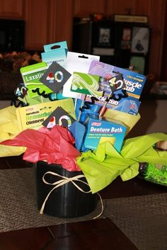 40th Birthday Gag Gift and Gift-card Bouquet...
