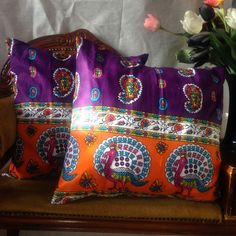 Latest addition to my collection shop @ www.etsy.com/uk/shop/HadiyahEsmie #Think #Purple #Orange #Peacock #Colours #Collection #Love #New #Bird #Animals #HadiyahEsmie #CushionCovers #Africa #Ankara #WaxPrint #AfricanPrints #Home #Homedecor #Life #Amazing #Pillows #Pillowcases #Interior #Inspire #Fashion #African #Paisley #Pattern #Handmade #Custommade #Original #Gifts #Presents #Shop #Online #Etsy #Cushions