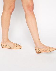 ASOS LARK Laser Cut Slipper Ballet Flats
