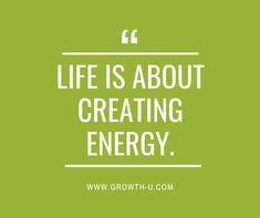We need energy to live and function. The constant creating and giving of energy is how you create more powerful energy for yourself. Life is about creating energy and focusing that energy on other people through awareness, love and service. Sometimes you need to protect your energy and not be around certain people. Sometimes you are filled up and fueled by certain individuals or groups. Your vital energy is important. Take good care of yourself today, mentally, emotionally and physically so… Growth Quotes, Good Friday, Life Purpose, Other People, Creativity, Vibrant, Live, Create, Quotes About Growth