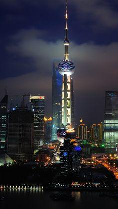 Shanghai by night, China