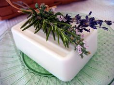 Natural Shea Butter Soap large farm house bar soap  Pink by LLFarm